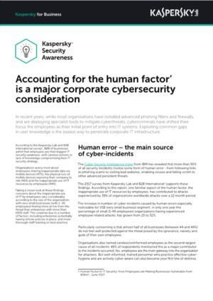 De menselijke factor is een belangrijke cybersecurity-overweging voor bedrijven
