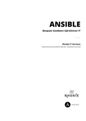 Ansible – bespaar kostbare tijd binnen IT