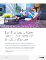 Best practices voor het creëren van een gecombineerde BYOD, CYOD en COPE strategie