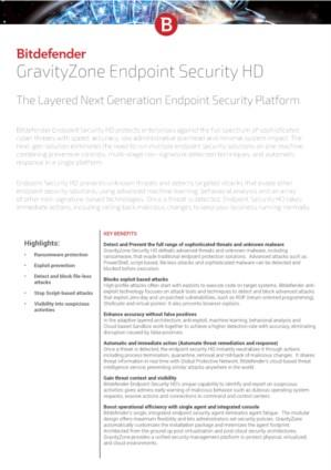 GravityZone Endpoint Security HD