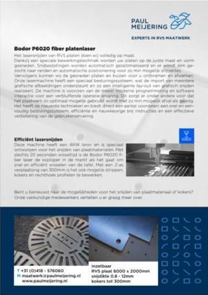 Maatwerk - lasersnijden platen
