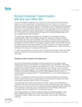 Enterprise Collaboration Transformatie met Box en Office 365