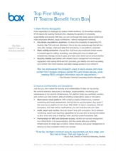 Cloud File Sharing: 5 voordelen voor uw organisatie & de IT-afdeling