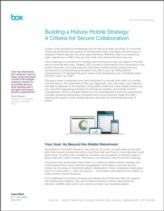 Het ontwikkelen van een volwassen Mobiele Strategie: 4 criteria voor veilig samenwerken