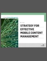 Strategie voor effectief Mobiel Content Management