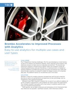 Brembo versnelt naar verbeterde processen met Analytics