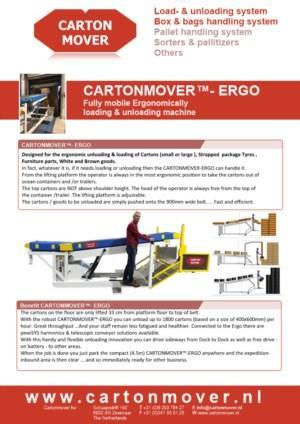 CartonMover ERGO, Ergonomisch laad- en lossysteem voor elk type product