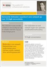 Gemeente Schiedam waardeert core netwerk op met 10 GigE connectivity