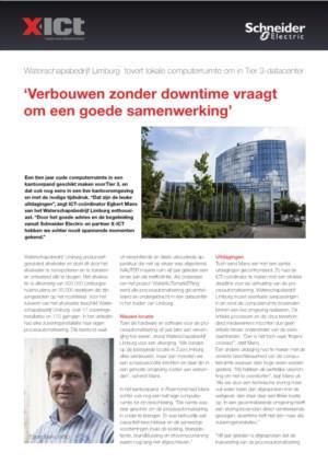 Waterschapbedrijf Limburg maakt update van computerruimte naar TIER III datacenter