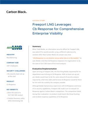 Carbon Black Case Study Freeport LNG