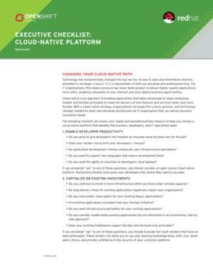 Checklist voor het kiezen van het juiste Native-cloud platform