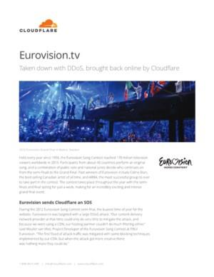 How Cloudflare brought Eurovision.tv back online mitigating a DDoS attack and also increased Eurovision.tv's performance
