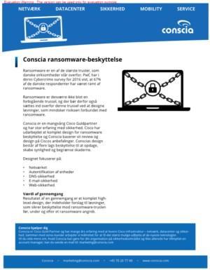 Conscia ransomware-beskyttelse