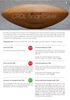 Financiële verantwoording gebruik CRDL