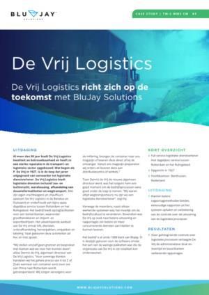 De Vrij Logistics richt zich op de toekomst met BluJay Solutions