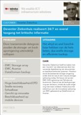 Patiëntengegevens 24/7 en overal te raadplegen dankzij implementatie van nieuwe back-up en SAN