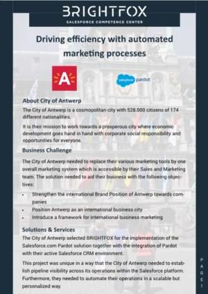Driving efficiency with automated marketing processes