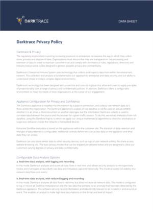 Darktrace Privacy Policy