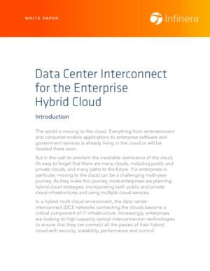Data Center Interconnect for the Enterprise Hybrid Cloud