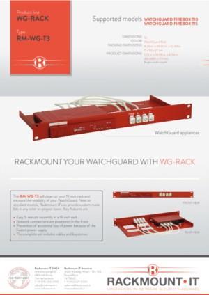 RACKMOUNT YOUR WATCHGUARD WITH WG-RACK RM-WG-T3