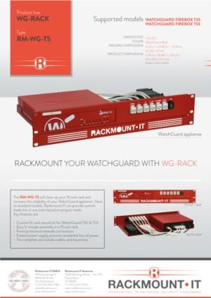 RACKMOUNT YOUR WATCHGUARD WITH WG-RACK RM-WG-T5