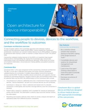 Device Connectivity CareAware