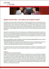 Digitale transformatie - Hoe maak je het complexe simpel?