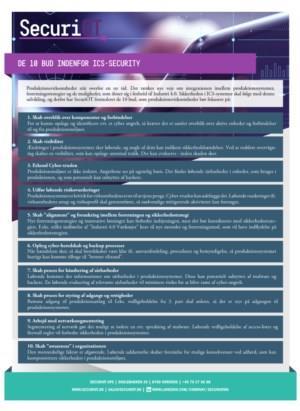 De 10 bud om ICS-security