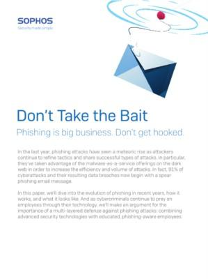 Phishing - Don't take the bait