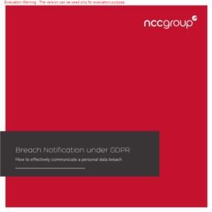 eBook: Breach notification under GDPR - How to communicate a personal data breach