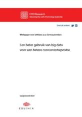 Software-as-a-Service (SaaS) providers: Big Data voor een betere concurrentiepositie