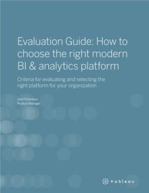 Hoe kiest u het juiste moderne BI & analytics platform?