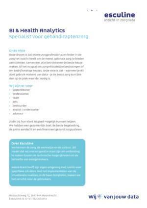 Factsheet Gehandicaptenzorg