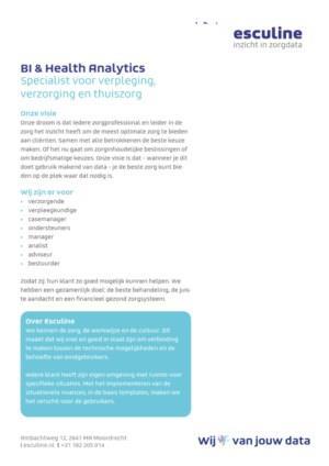 Factsheet verpleging, verzorging en thuiszorg
