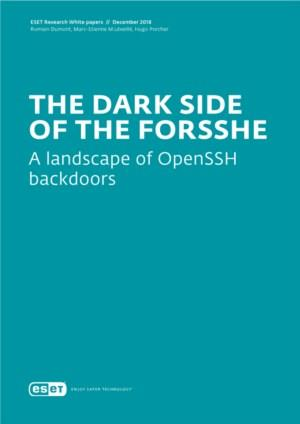 ESET- The Dark Side of the ForSSHe