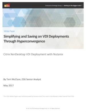 ESG: de economische impact van het inzetten van Citrix XenDesktop (VDI) met Hyperconverged Infrastructure (HCI) van Nutanix