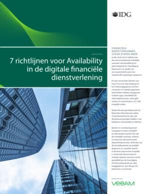 Richtlijnen voor databeschikbaarheid voor financiële dienstverleners