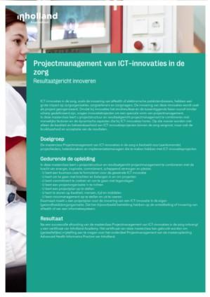 Projectmanagement van ICT-innovaties in de Zorg