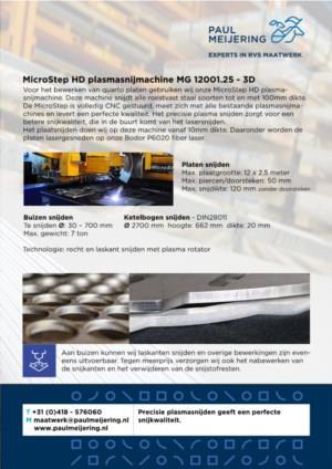 RVS maatwerk plasma snijden Paul Meijering Stainless Steel