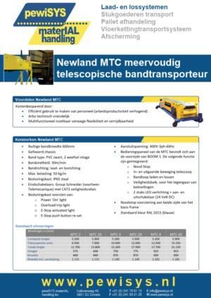 Telescopische bandtransporteurs van Newland