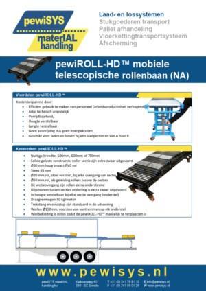 pewiROLL™ mobiele telescopische rollenbaan (NA)