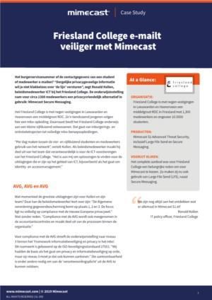 Friesland College e-mailt veiliger met Mimecast