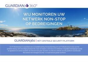Informatieleaflet Guardian360: het centrale security platform