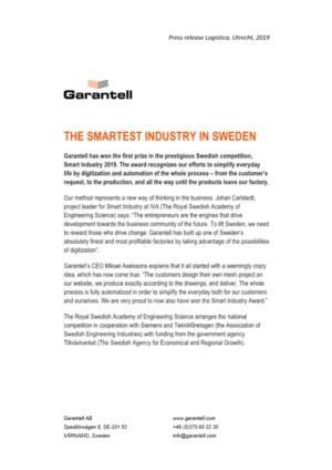 The smartest industry in Sweden