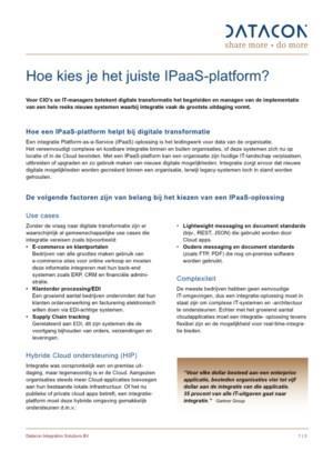Hoe kies je het juiste IPaaS-platform?