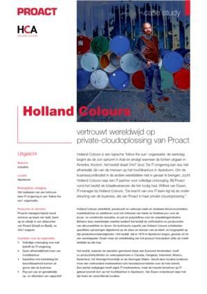 Holland Colours vertrouwt wereldwijd op private-cloudoplossing van Proact