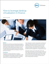 Hoe kan desktop virtualisatie van waarde zijn voor de financiële markt?