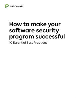 How to make your software security program successful - 10 Essential Best Practices