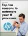 Top 10 argumenten voor IT-procesautomatisering