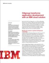 Private Cloud van Citigroup: Nooit meer issues met applicatieontwikkeling en server provisioning